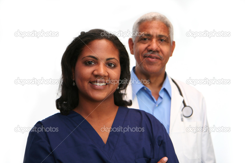 Minority doctor set on white background  Stock Photo #9997202