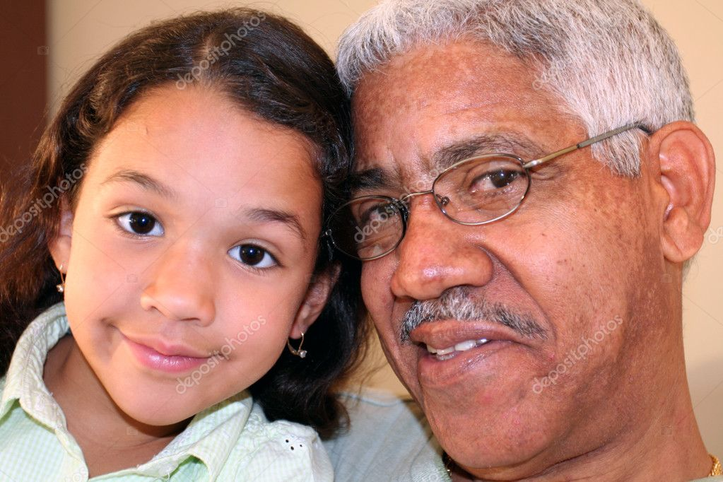Grandfather and Granddaughter — Stock Photo #9997805