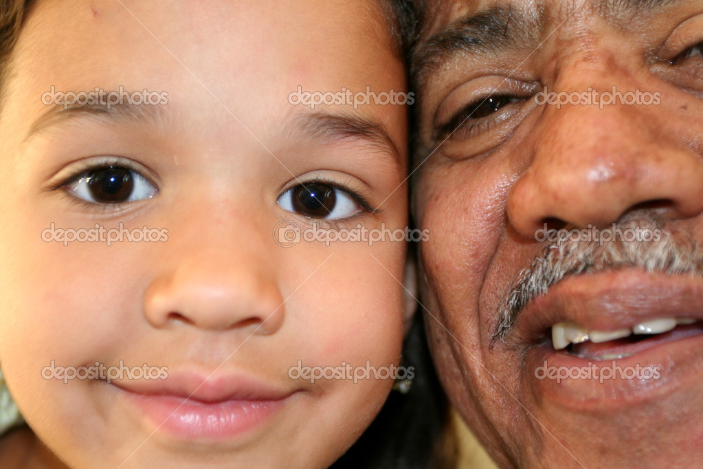 Grandfather and Granddaughter — Stock Photo #9997807