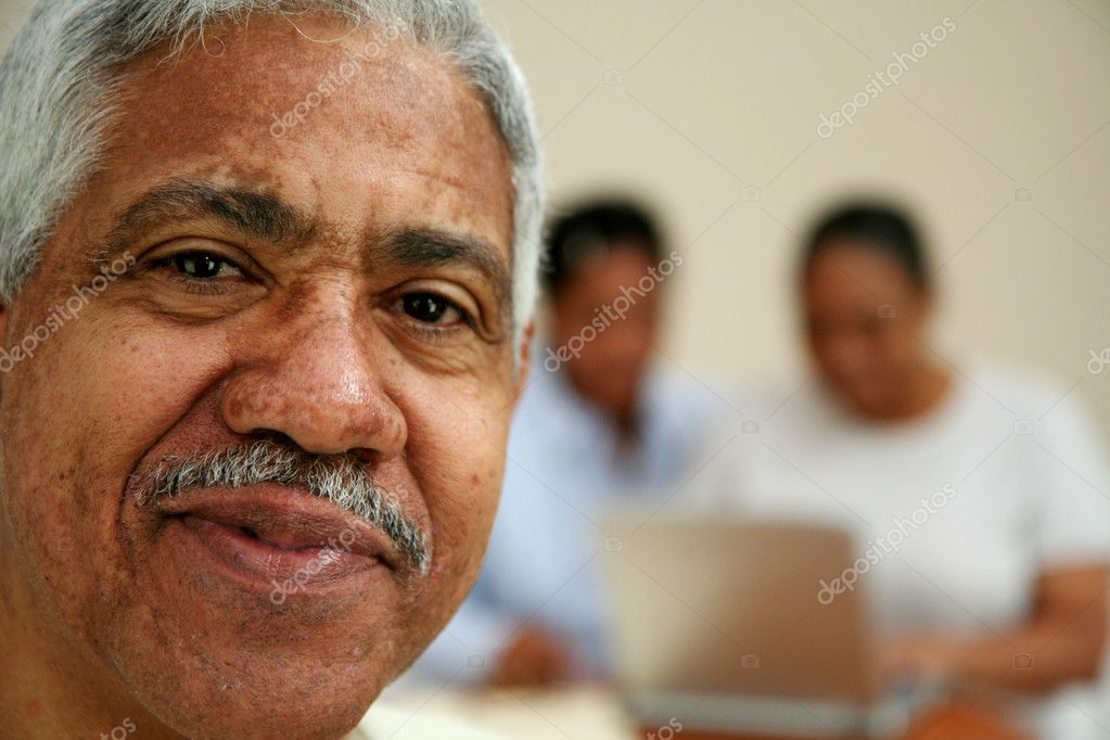 Senior man in an office  Stock Photo #9999605