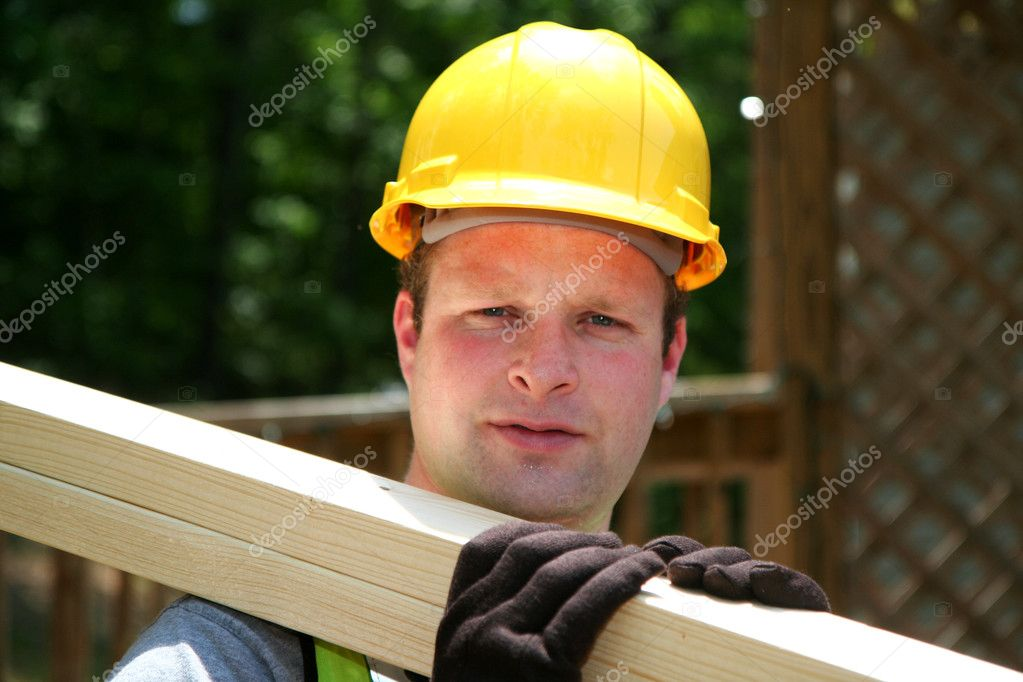 Construction worker on the job — Stock Photo #9999811