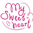 My sweetheart handwritten greetings — Stok Vektör