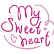 My sweetheart handwritten greetings — Stockvectorbeeld
