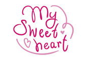 My sweetheart handwritten greetings — Stock Vector