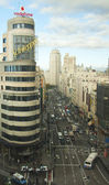 Gran Via of Madrid — Stock Photo