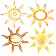 Stock Vector: Sun collection