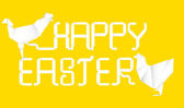 Happy easter origami — Stockvector