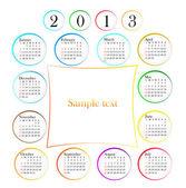 Calendario 2013 — Vettoriale Stock