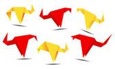 Banner origami — Vettoriale Stock