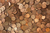 Background of pile of coins — Stock Photo