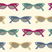 Retro sunglasses background — Stock Vector