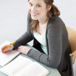 Female student studying — Stock Photo #10399947