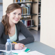 Female student studying — Foto Stock