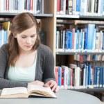 Female student studying — Stock Photo