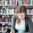 Female student studying - Stock Photo