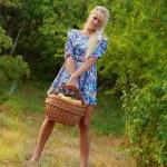 Wonderful blond women in nature — Stock Photo #10732896