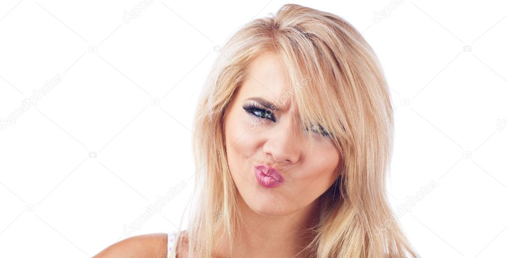 Women with disgusted expression — Stock Photo © alen44 ...