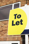 To Let Sign Outside House — Stock Photo