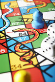 Close Up Of Snakes And Ladders Board — Stock Photo
