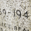 Close Up Of Date Inscription On War Memorial — Stock Photo