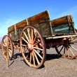 Old wagon in Death Valley — Stock Photo