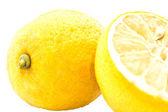 Citrus colors: pair of yellow lemons — Stock Photo