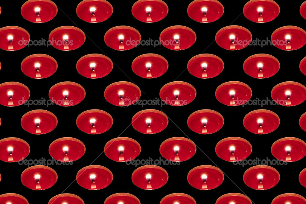 Background of Red candles placed next to each other in a regular frequency  Stock Photo #10197094