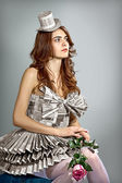 Paper dress — Stock Photo