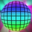 Colorful lighted ball — ストック写真
