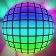Colorful lighted ball — Stock Photo