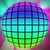 Colorful lighted ball — 图库照片