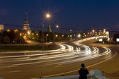 View on Kremlin wall and towers at night. Moscow — Stock Photo