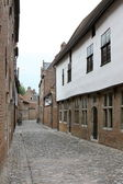 The ancient street in Leuven city — Stock Photo