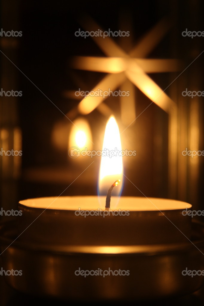 Heating candle — Stock Photo #9976247
