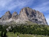 Amazing Sassolungo Dolomites — Stock Photo
