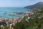 Landscape of the city of Salerno in Italy — Stock Photo