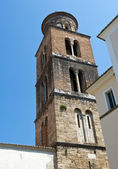 Bell tower of the Cathedral of Salerno — Stock Photo