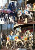 Horses of the carousel — Stock Photo