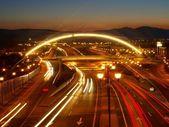 Bridge with Lights — Stock Photo