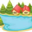 Nature cabins — Stock Vector