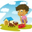 Child illustration — Stock Vector