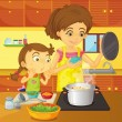 Helping at home - Stock Vector