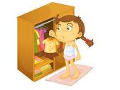 Child illustration — Stock Vector