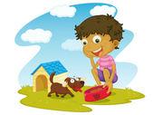 Illustrazione del bambino — Vettoriale Stock