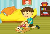 Ayudando en casa — Vector de stock