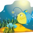 Lone  Anglerfish - Stock Vector