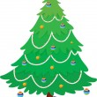 Christmas tree — Stock Vector
