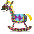 Stock Vector: Toy horse