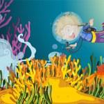 Scuba diver — Stock Vector #10114175
