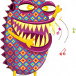 Hippie monster - Stock Vector